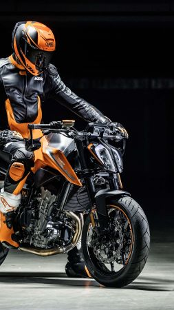 KTM Duke 790, 2018 Bikes, 4k (vertical)