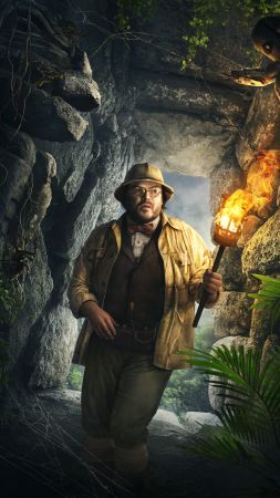 Jumanji: Welcome to the Jungle, Jack Black, 4k (vertical)