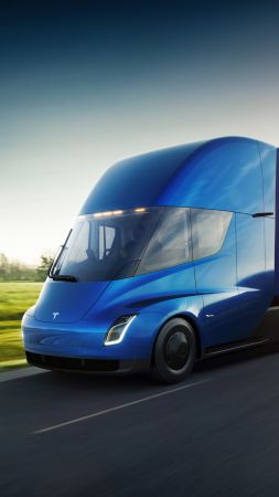 Tesla Semi Truck, electric car, 4k (vertical)