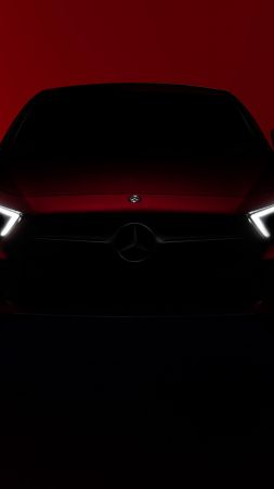 Mercedes-Benz CLS, 2018 Cars, red, 5k (vertical)