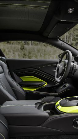 Aston Martin Vantage, interior, 2018 Cars, 5k (vertical)