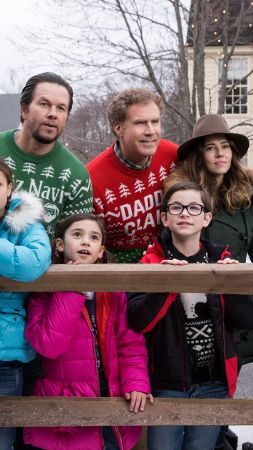 Daddy's Home 2, Mark Wahlberg, Will Ferrell, Mel Gibson, Alessandra Ambrosio, 5k (vertical)