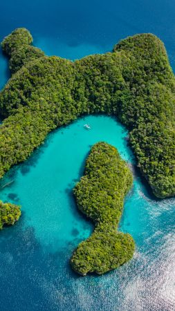 Palau, Philippines, ocean, islands, 8k (vertical)