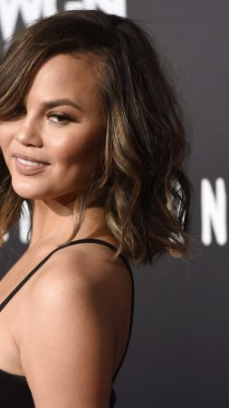 Chrissy Teigen, beauty, brunette, 4k (vertical)