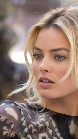Margot Robbie, beauty, blonde, 4k (vertical)