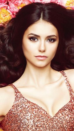 Nina Dobrev, beauty, brunette, 4k (vertical)