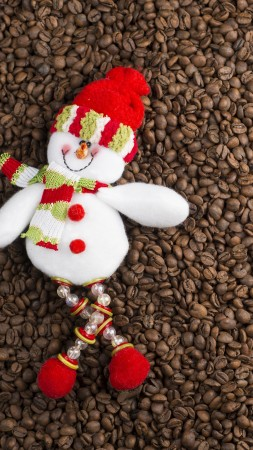 Christmas, New Year, snowman, coffee, 5k (vertical)