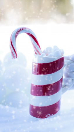 Christmas, New Year, Santa, snow, winter, candy, cup, 5k (vertical)