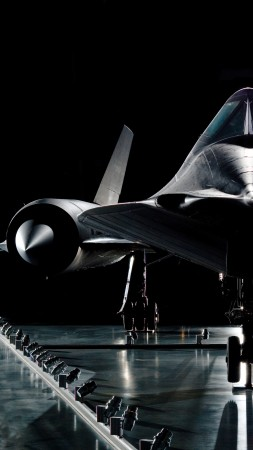 SR-71, Lockheed, Blackbird, jet, plane, aircraft, presentation, U.S. Air Force (vertical)