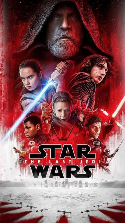 Star Wars: The Last Jedi, Daisy Ridley, Carrie Fisher, Adam Driver, poster, 8k (vertical)