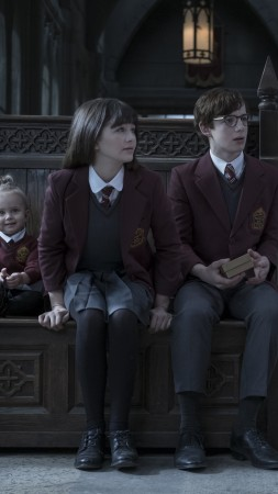 A Series of Unfortunate Events Season 1, Malina Weissman, Louis Hynes, TV Series, 5k (vertical)