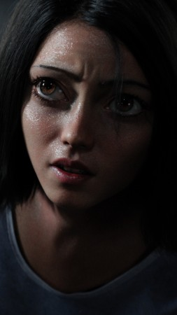 Alita: Battle Angel, Rosa Salazar, 4k (vertical)