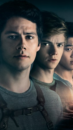 Maze Runner: The Death Cure, Dylan O'Brien, Thomas Brodie-Sangster, Kaya Scodelario, 5k (vertical)