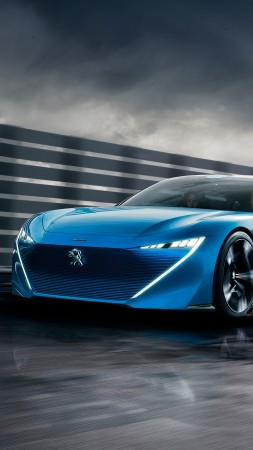 Peugeot Instinct, electric car, 4k (vertical)