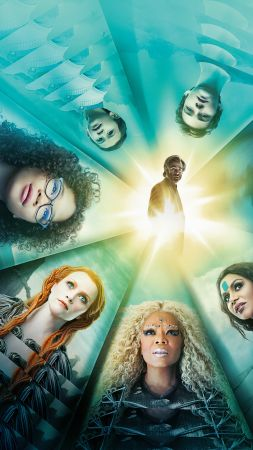A Wrinkle in Time, Reese Witherspoon, Oprah Winfrey, Mindy Kaling, Chris Pine, Storm Reid, 5k (vertical)