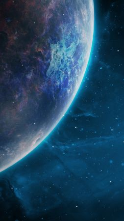 space, galaxy, planet, 4k (vertical)