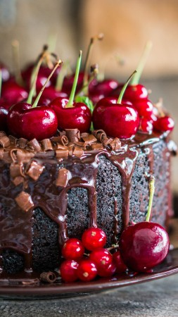cake, receipt, chocolate, cherry, 5k (vertical)