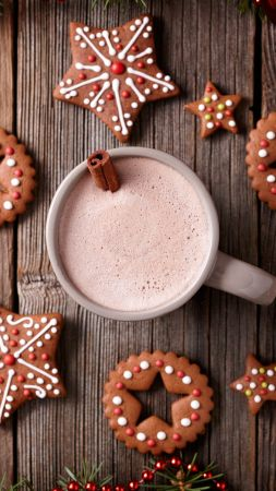 Christmas, New Year, cookies, cocoa, cinnamon, 5k (vertical)
