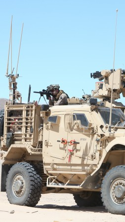 M-ATV, Oshkosh, MRAP, TerraMax, SXF, infantry mobility vehicle, desert