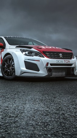 Peugeot 308 TCR, 2018 Cars, 4k (vertical)