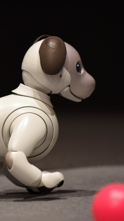 Sony Aibo, CES 2018, robot, dog, 8k (vertical)
