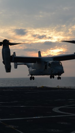 V-22 Osprey, tiltrotor, multi-mission aircraft, Bell, Boeing, U.S. Air Force, aircraft carrier, U.S. Air Force (vertical)