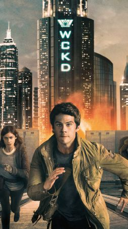 Maze Runner: The Death Cure, Dylan O'Brien, Thomas Brodie-Sangster, Kaya Scodelario, 4k (vertical)