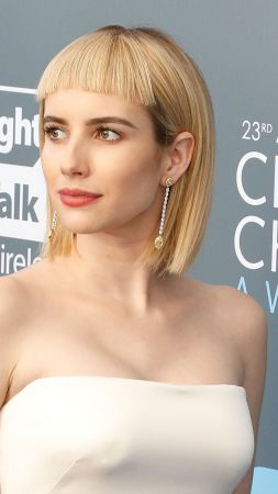 Emma Roberts, photo, Critics' Choice Awards 2018, blonde, 4k (vertical)