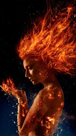 X-Men: Dark Phoenix, Sophie Turner, 4k (vertical)