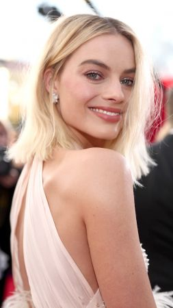Margot Robbie, photo, Screen Actors Guild Awards 2018, blonde, 4k (vertical)
