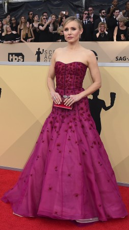 Kristen Bell, dress, Screen Actors Guild Awards 2018, 4k (vertical)