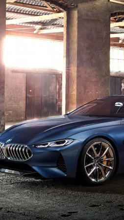 BMW 8 Series, Cars 2018, 4k (vertical)