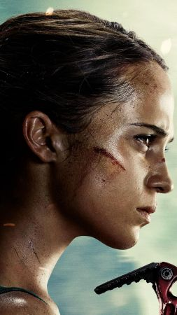Lara Croft, Tomb Raider, Alicia Vikander, 4k (vertical)