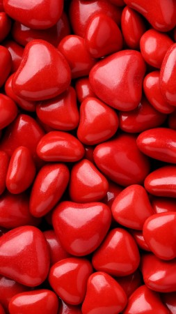 Valentine's Day, love image, hearts, red, 8k (vertical)