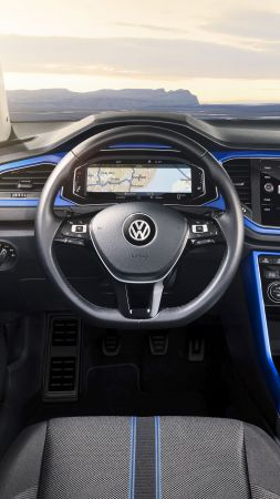 Volkswagen T-Roc, 2020 Cars, interior, 4k (vertical)