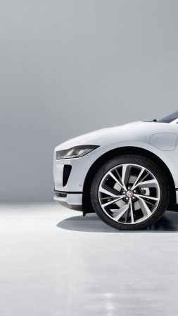 Jaguar I-Pace, electric car, 4k (vertical)
