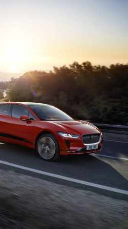 Jaguar I-Pace, electric car, 8k (vertical)