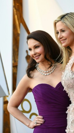 Ashley Judd, brunette, Mira Sorvino, blonde, Oscar 2018, 4k (vertical)