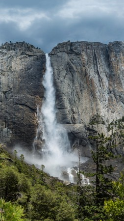 yosemite, 5k, 4k wallpaper, 8k, forest, OSX, apple, waterfall (vertical)