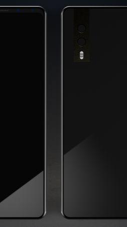 HuaweiP20, black, 4k (vertical)