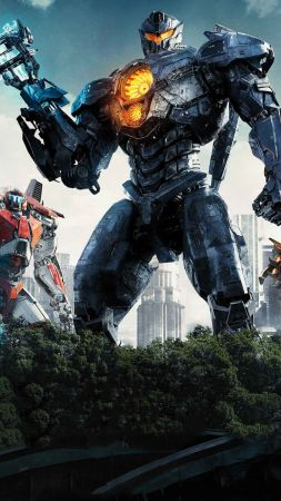 Pacific Rim: Uprising, 4k (vertical)