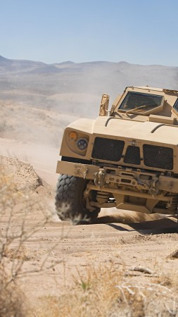 M-ATV, Oshkosh, MRAP, TerraMax, infantry mobility vehicle, field, desert (vertical)