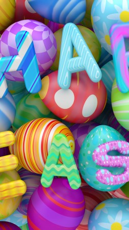 Easter, eggs, 8k (vertical)