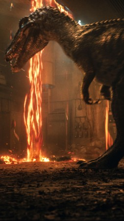 Jurassic World: Fallen Kingdom, dinosaur, 5k (vertical)