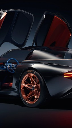 Genesis Essentia, sport car, electric cars, Concept, 4k (vertical)