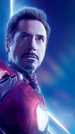 Avengers: Infinity War, Robert Downey Jr., Iron Man, Tony Stark, 8k (vertical)