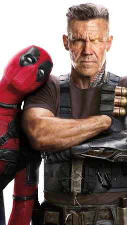 Deadpool 2, Ryan Reynolds, Josh Brolin, 5k (vertical)