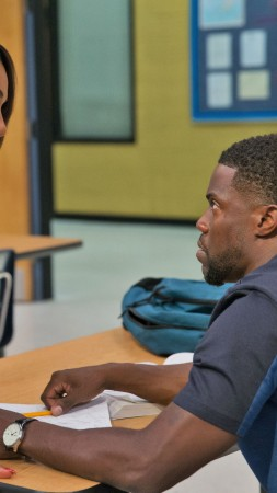 Night School, Kevin Hart, Tiffany Haddish, 4k (vertical)