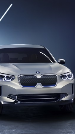 BMW iX3, electric cars, 4k (vertical)