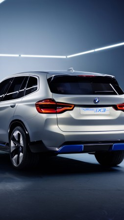BMW iX3, electric cars, 8k (vertical)